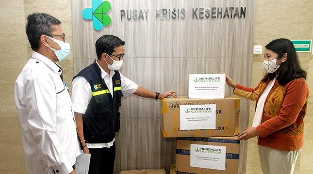 Donación al Ministerio de Salud de Indonesia
