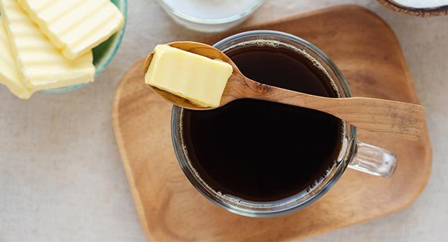 Café y mantequilla