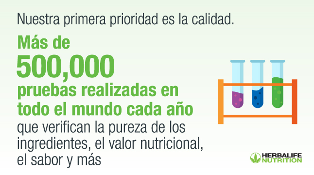 Tests de calidad para productos Herbalife Nutrition