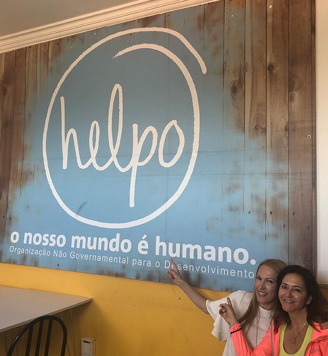 Natalia en HELPO con la directora de país de Herbalife Nutrition Portugal, Gee Soares
