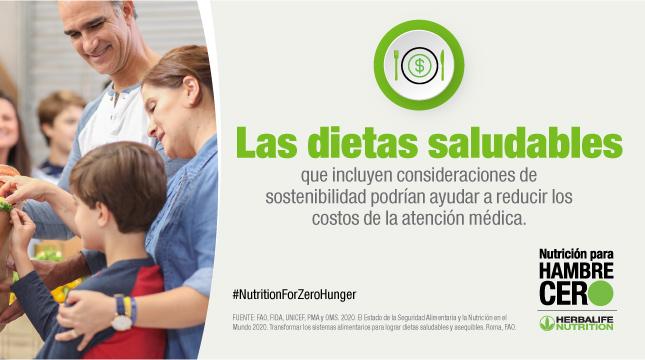 Dietas saludables reducirían costos de atención médica