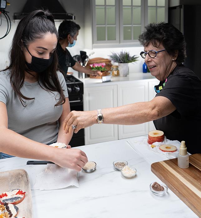 Marta con estilista gastronómica